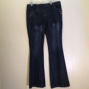 I-N-C BUTTON POCKETS FLARE JEANS.  SIZE 10
